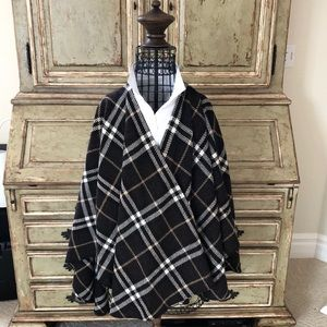 Burberry Lambswool Poncho Very Gently Worn